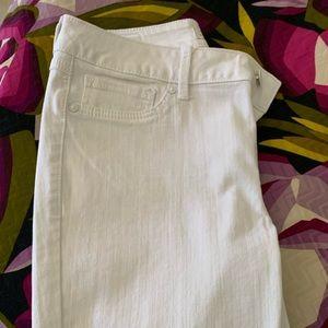 Seven white denim jeans , skinny cropped